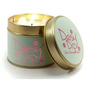 Daisy Dip Tin Candle by Lily Flame