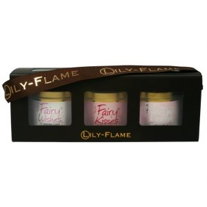 Fairy box of 3x Mini Tin Candles by Lily Flame