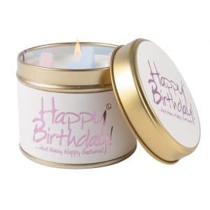 Happy Birthday Tin Candle by Lily Flame