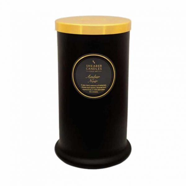Shearer Amber Noir Tall Pillar Candle