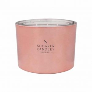 Shearer Cerise Triplewick Glass Candle
