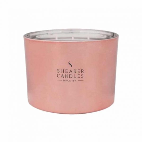 Shearer Cerise Triplewick Glass Candle