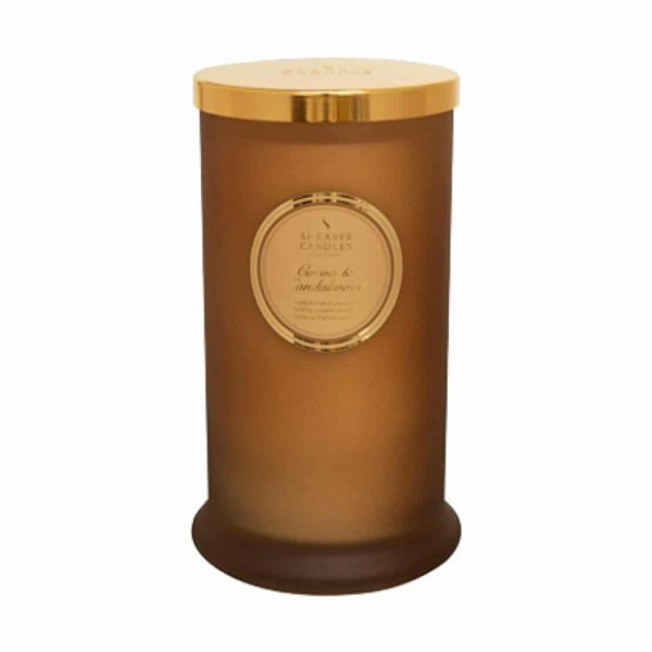 Shearer Cocoa and Sandalwood Tall Pillar Candle