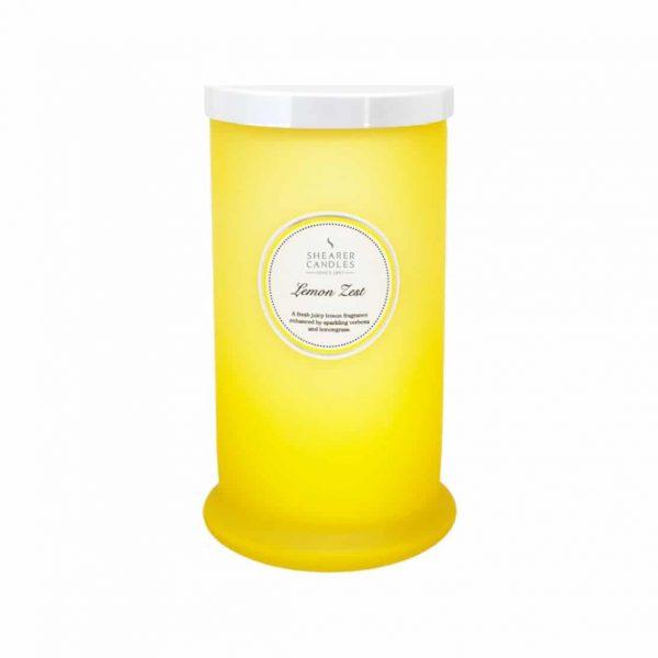 Shearer Lemon Zest Tall Pillar Jar Candle