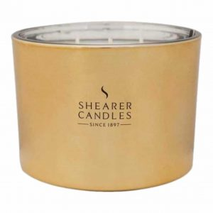 Oud Triple Wick Glass Candle by Shearer