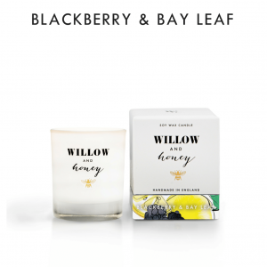 Blackberry & Bay Leaf Candle by Willow and Honey.