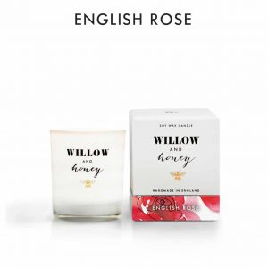 English Rose Candle by Willow and Honey