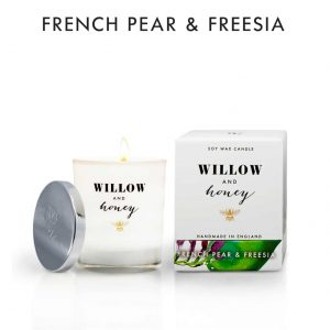 French Pear & Freesia Candle by Willow and Honey