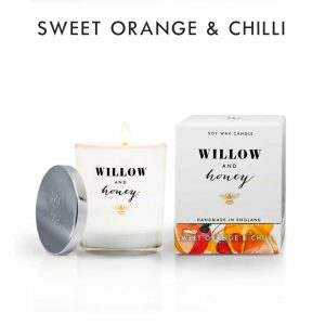 Sweet Orange & Chilli Candle by Willow and Honey