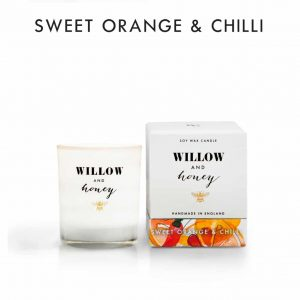 Sweet Orange & Chilli Candle by Willow and Honey.