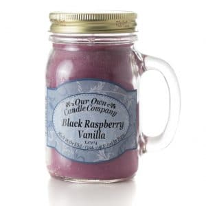 Black Raspberry Vanilla Large Mason Jar by Our Own Candle Company
