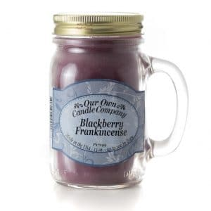 Blackberry Frankincense Large Mason Jar by Our Own Candle Company