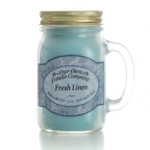 Fresh Linen Large Mason Jar by Our Own Candle Company