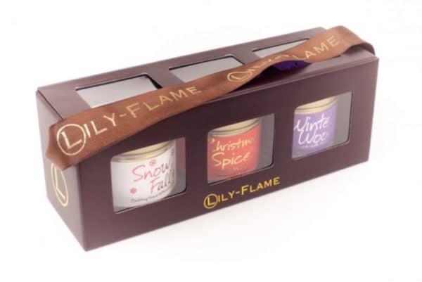 Lily Flame Christmas 1 - 3 mini Tin candles