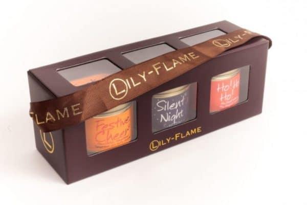 Lily Flame Christmas 2 - 3 mini Tins