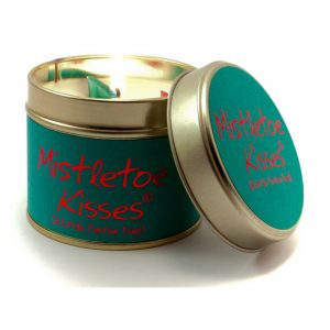 Mistletoe Kisses Tin Candle by Lily Flame