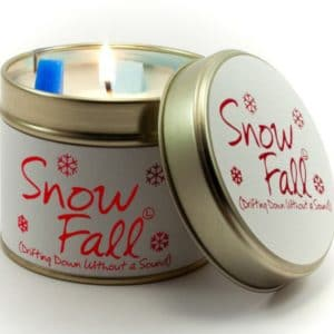 Snow Fall Tin Candle by Lily Flame
