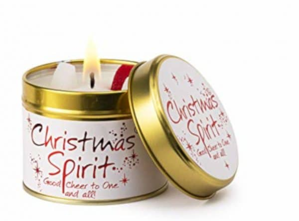 Spirit of Christmas Tin Candle by Lily Flame