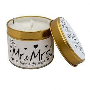 Lily-Flame Mr & Mrs Scented Candle Tin